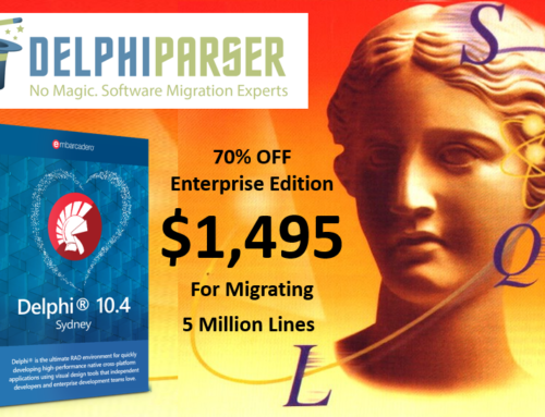 70% Off Delphi Parser Migration Tools!