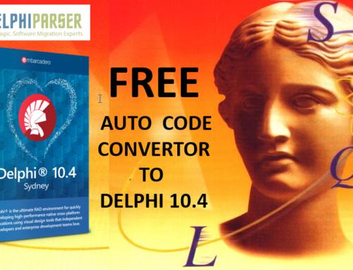 Try Free Auto Code Convert To Delphi 10.4