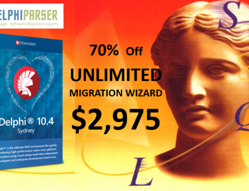 SUMMER SALE ENDS!  DON'T MISS – 70% OFF DELPHI PARSER MIGRATION & ANALYSIS TOOLS